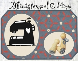 Mini Stempel - Naaimachine