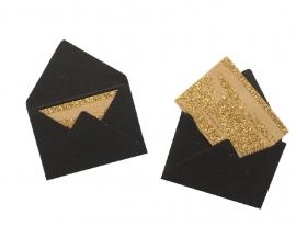 Mini envelopjes - Zwart .19
