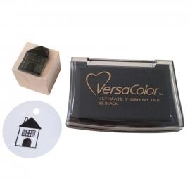 Stempelkussen VersaColor zwart - black