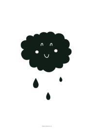 POSTER CLOUD RAIN A3