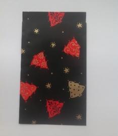 Cadeauzakje Zwart Kerstbomen