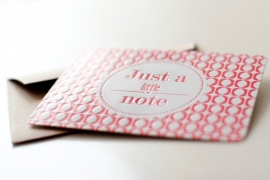 Just a little note - Letterpress pink