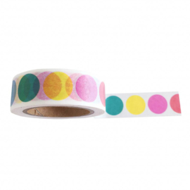 Masking tape Rainbow Dots