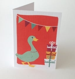 Greeting Card Party Duck