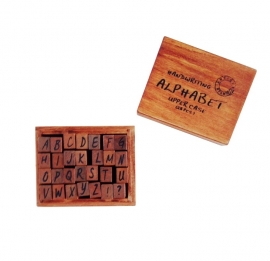 Stamp Box ABC handwrite uppercase