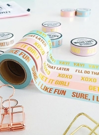 Washi tape white I'll do that later
