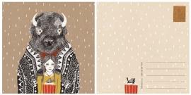 Postcard Bison