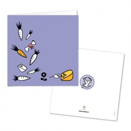 Greeting Card - carrot, beans ans cheese