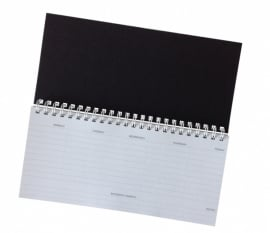 Weekly planner - black