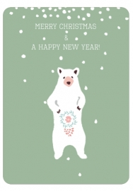 Christmas Card Merry Christmas Bear