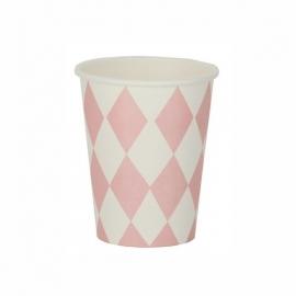 Papieren bekertjes - roze diamond