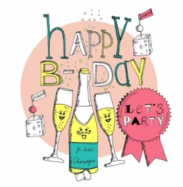 Kaart - Happy B-day