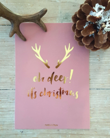 Christmas card OH DEER!