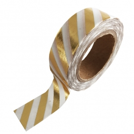 Masking tape Gold foil Stripe