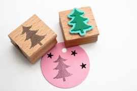 Stamp Christmastree Dots