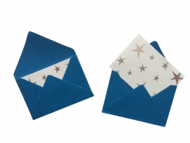 Mini envelopjes - Blauw .18