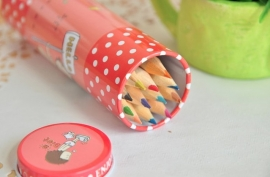 Pencils in cute tin