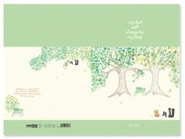 Schrift April Story bomen - klein
