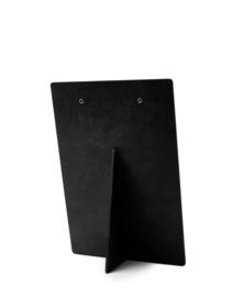 Houten klembord A5 huisje trapgevel zwart