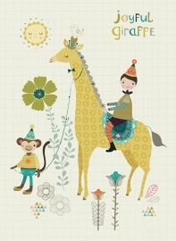 Bee Brown | Card Joyful Giraffe