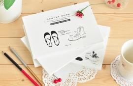 Schetsboek schoenen