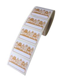 Stickers Sinterklaas Huisjes Okergeel