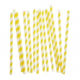 Paper Straws - Yellow