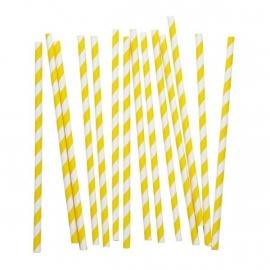 Papieren rietjes - geel