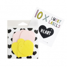 Lucky Labels Heart Roze/geel