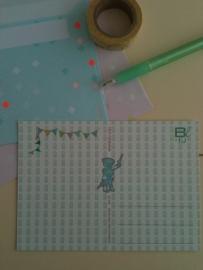Postkaart hiep hiep hoera