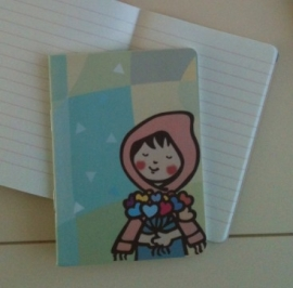 Writing notebook - Girl with the heartflowers