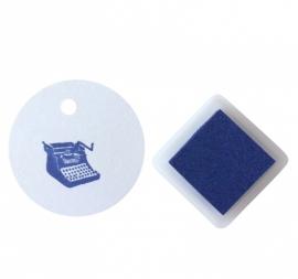 Stempelkussentje donker blauw - royal blue