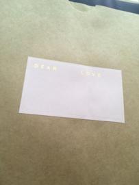 Stickers Etiket dear/love