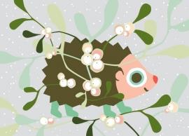 Postcard City Hedgehog