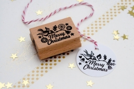 Stamp Merry Christmas Bird