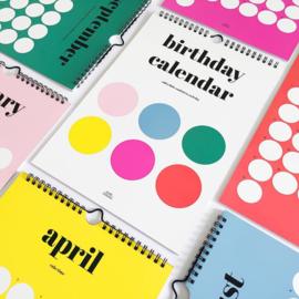 Birthday calendar dots
