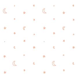 Behangpapier Pink stars