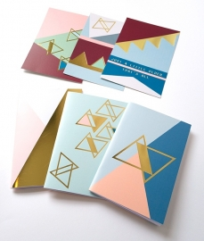 Gold notebook - pink