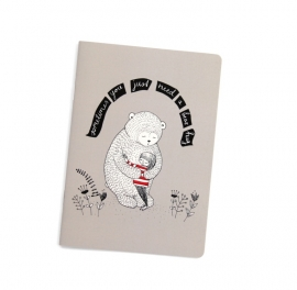 "Notebook A5 ""bear hug"""