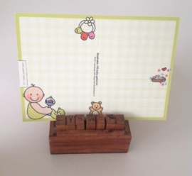Postcard baby birth