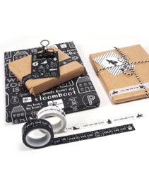 Masking tape Sinterklaas zwart met tekst pakje van sint