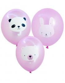 Ballonnen Baby Animals Roze