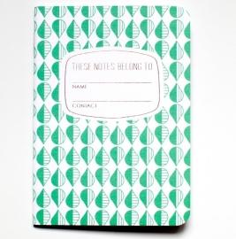 Notebook drip green
