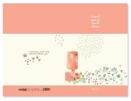 Schrift April Story brievenbus - klein