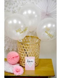 Text balloon Mr & mrs