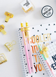 Pen holder clips Gold