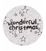 Stickers Wonderful Christmas zwart/wit