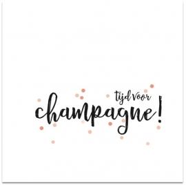 kaart tijd voor champagne!