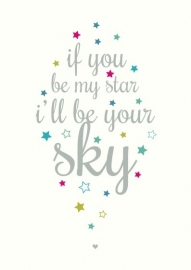 Postcard Be My Star