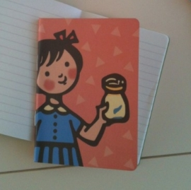 Writing notebook - Girl with the jar